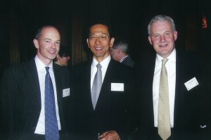 Mr Sumi, President Tokio Marine with Charles Franks and Edward Creasey on the acqusition of Kiln in 2008